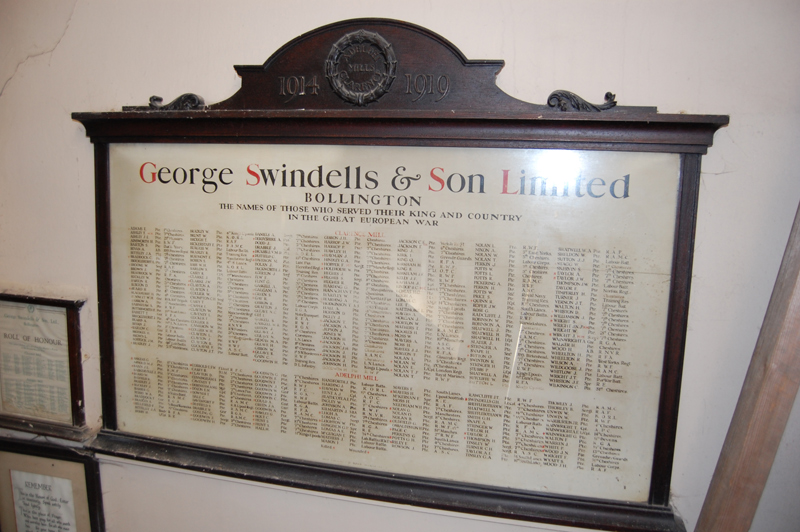 Mill roll of honour